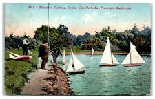 1913 Miniature Yachting, Golden Gate Park, San Francisco, CA Postcard