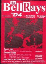 "BELLRAYS / DATSUNS 2002 TOUR UK FLYER / mini Poster 8x6"""
