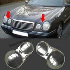 For Mercedes-Benz E Class W210 2001-2003 Pair Headlight Lenses Headlamp Cover 2X