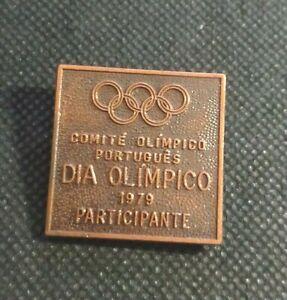 Rare Portuguese NOC Olympic day 1979- Portugal - Participant Copper Badge