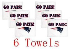 "Nwt 6 Pcs New England Patriots WinCraft White 15"" x 18"" Go Pats Rally Towels"