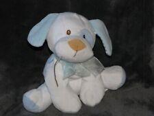 Amscan White Blue Polka Dot Spot Bean Bag Stuffed Plush Puppy Dog Stripe Ear