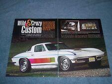 "1967 Corvette Coupe Custom Paint Survivor Article ""Wild & Crazy Custom"""