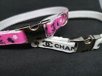 """SMALL DOG COLLAR 8""""- 12"""" NECK. Gold or silver  CHIHUAHUA. FREE FABRIC DESIGN."""