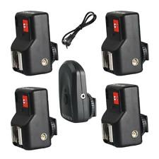 PT-04GY 4 canali Wireless / Radio Flash Trigger + 4 ricevitori per Canon