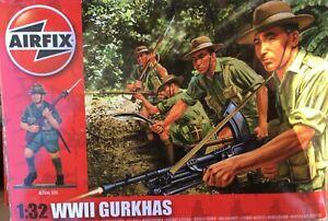 AIRFIX WW2 GURKHAS BRAND NEW BOXED 1/32 SCALE