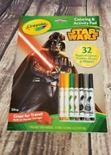 Star Wars coloring & Activity Pad w Markers, 32 page, new, Crayola