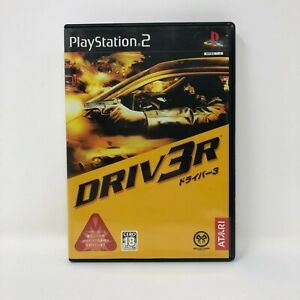 Driv3r Driver PS2 Sony Japan Import with Manual PlayStation 2