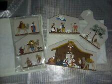 The Cats Meow ~ 1993 Nativity Scene & Visitors 6 piece set ~ Nib