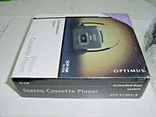 Vintage Optimus SCP-104 Stereo Cassette Player Extended Bass System + Headphones