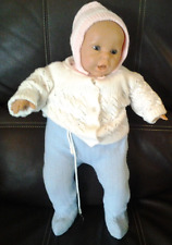 Berenguer Baby Doll Blue Eyes, Mouth Open Vinyl & Cloth 19""