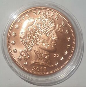 2018 2 Zombucks coin, .999 Copper, Currency of the apocalypse, *The Barber*