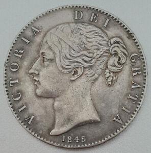 1845 VF Queen Victoria Silver Crown Spink 3882