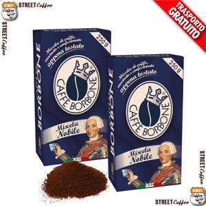 4 Confezioni Buste da 250g Caffè Borbone Miscela Blu Macinato Macinata Polvere *
