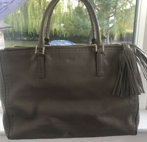 Anya Hindmarch Pimlico Leather Tote Bag Grey