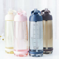 550/850/1000ml Capacity Straw Water Bottle Outdoor Sports Drinkware with Straw
