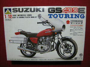 Suzuki GS400E Touring 1/12 Motorcycle Model Kit Aoshima Japan Motorbike Rare