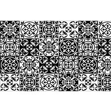 Boyle 1.5m X 45cm Moroccan Black Tiles Self Adhesive Film B1