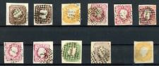 Portugal 1862 King Luis range to 100 Reis Used and SG 28 Unused Thin Cat £598