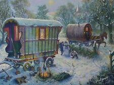 GYPSY CARAVAN IN SNOW (PRINT) BY JAMIE MONTGOMERY