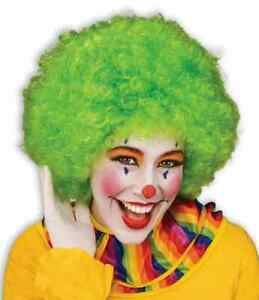 Clown Wig Afro Circus Retro Disco Halloween Adult Costume Accessory 10 COLORS