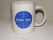 PAN AM AIRLINE COFFEE CUP MUG AIRPLANE PAN AMERICAN JET PLANE PILOT CHRISTMAS !