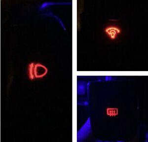 Headlight/Defrost/Dimmer Red LED Bulb Combo Kit For Nissan S13 240SX 1989-1994