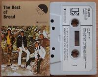 BREAD - BEST OF BREAD (ELEKTRA/EMI K442115) 1972 UK CASSETTE TAPE VG+