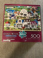 Charles Wysocki Americana Collection - Shops & Buggies - 500 piece jigsaw puzzle