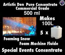 SNOW MACHINE FLUID 500ml Pure Concentrate Makes 100 Litres Foam Machine Fluid