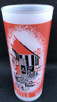 Vintage Seattle 1962 World's Fair Tumbler Frosted Glass Red Boulevard