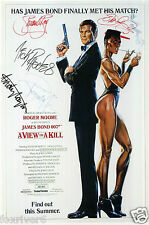 DURAN DURAN Signed Window Poster - 'A View To A Kill' James Bond Movie preprint