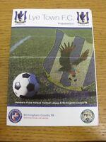17/09/2016 Lye Town v Heanor Town  . Footy Progs (aka bobfrankandelvis) are plea