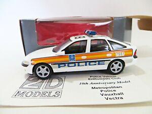 2D MODELS 'VAUXHALL VECTRA, METROPOLITAN POLICE'. 10th ANNIVERSARY. SCHUCO 1:43