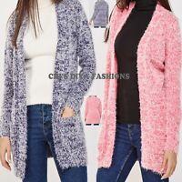 BRAVE SOUL Super Soft Fluffy Eyelash Open Front Speckled Cardigan Sizes UK 8-20