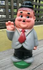 "VTG 1970's RARE MEXICAN OLIVER HARDY COIN BANK HARD PLASTIC 14"" CLONE MEXICO"