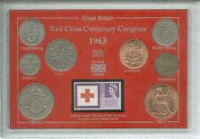 Centenaire de la croix rouge congrès humanitaire coin & stamp année ensemble cadeau 1963