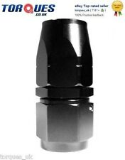 """AN -12 (12AN AN12) STRAIGHT To 1/2"""" BSP Female Swivel Seal Hose Fitting In Black"""