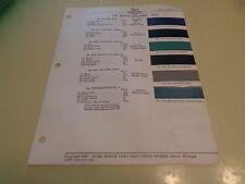 1941 DeSoto ACME Color Chip Paint Sample