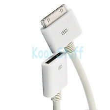 30 Pin 1M iPod iPhone iPad Dock Extension Extender Data Sync Cable