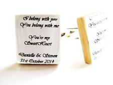 Personalised Wedding Cufflinks Groom Gift Wedding Day Cufflinks Handmade Boxed