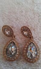 CAROLEE  NEW - Bridget Crystal Double Drop Earrings - Metallic Gold-Tone Plating