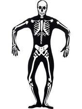 Unisex Skeleton Glow In Dark 2nd Skin Body Suit & Mask Horror Zentai Halloween