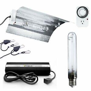 iPower 600 Watt HPS Digital Dimmable Grow Light System Kits Wing Reflector Set
