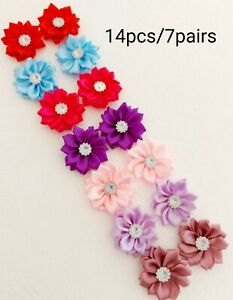 Dog Hair Bows Grooming Puppy Flowers 14pcs Pet Fashion Accessories  UK