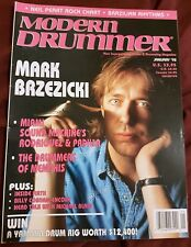 MODERN DRUMMER MAGAZINE JANUARY 1992 MARK BRZEZICKI BILLY COBHAM VIC FIRTH
