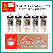 New 5x Genalex Gold Lion 12AX7 / ECC83 | Matched Quintet / Five Tubes
