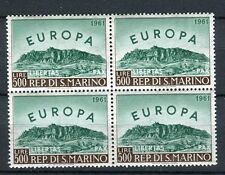 San Marino  1961 europa in blocchi di 4 mnh