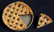 """Our Generation 18"""" Doll Blueberry Lattice Pie & Pan Retro Diner Replacement Cafe"""