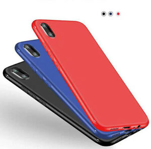 Ultra-Thin Matte Black Red Blue Case Slim Cover For iPhone XS MAX XR X 8/7 Plus